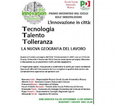 invito-7-giugno-400x358 #Tecnologia #Talento #Tolleranza